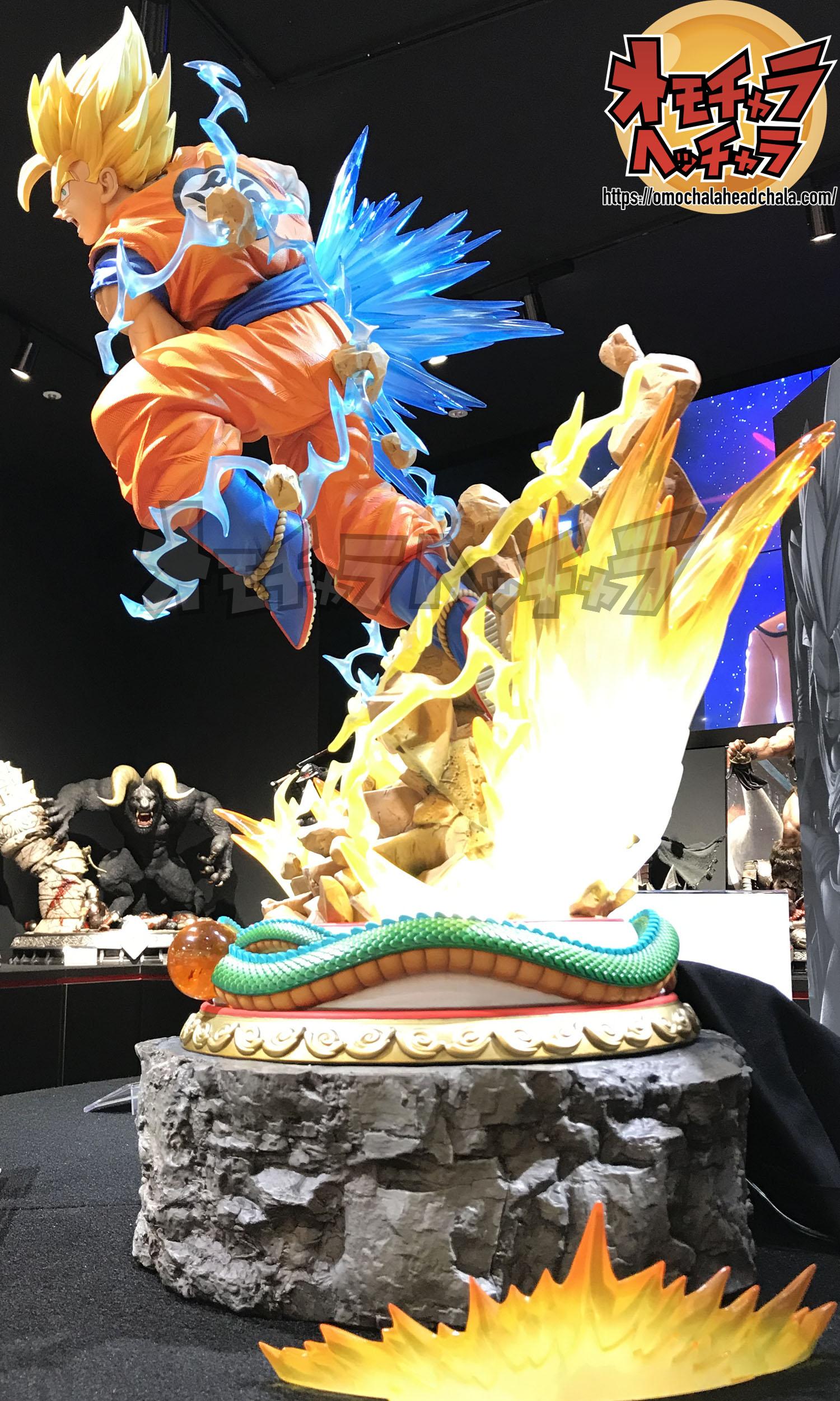 """ドラゴンボールフィギュアレビューブログのPrime1Studio(プライムワンスタジオ)×MegaHouse(メガハウス)孫悟空""""超サイヤ人""""DX版"""