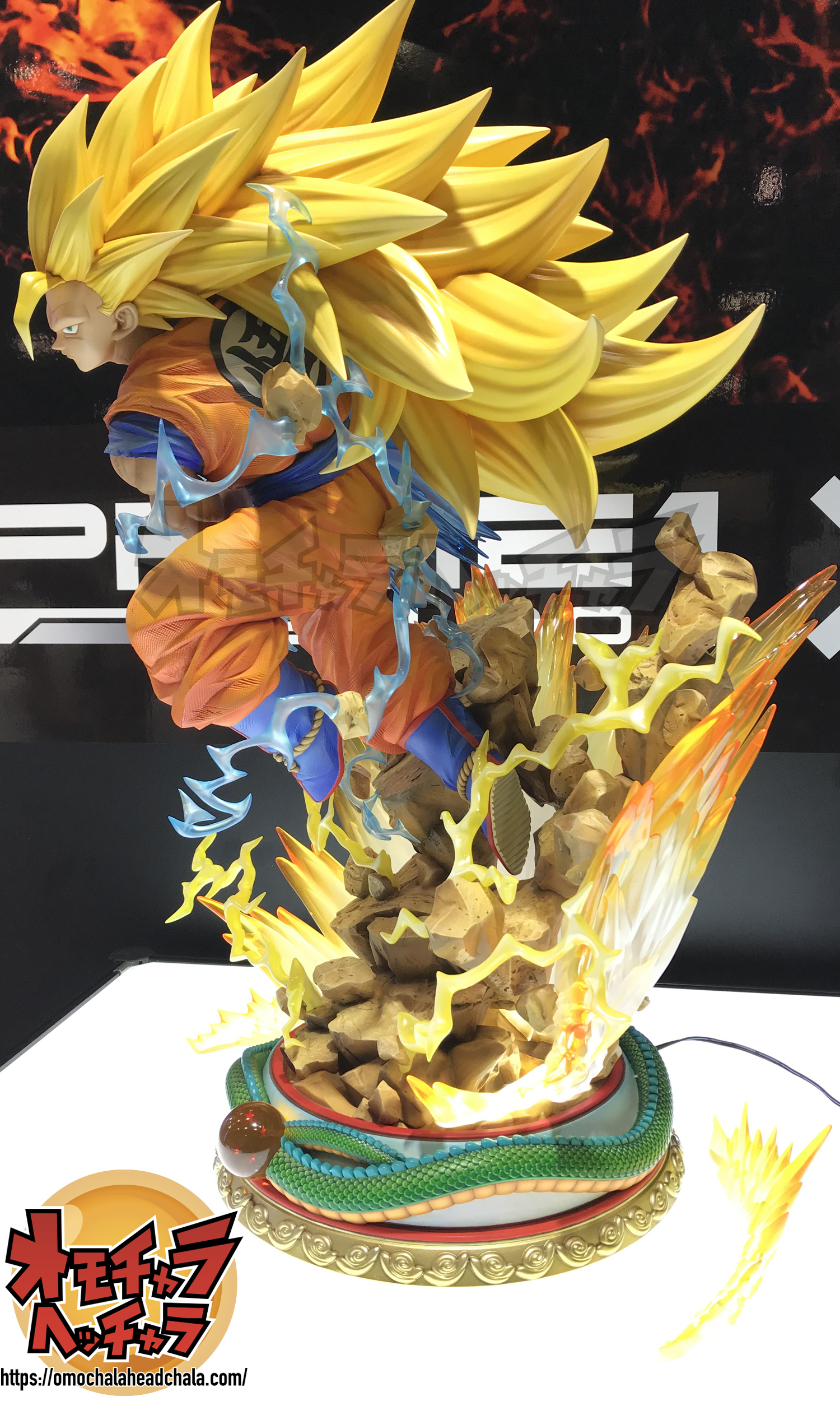 ドラゴンボールフィギュアレビューブログのPrime1Studioプライムワン×MegaHouseメガハウス ドラゴンボールZ 超サイヤ人3孫悟空